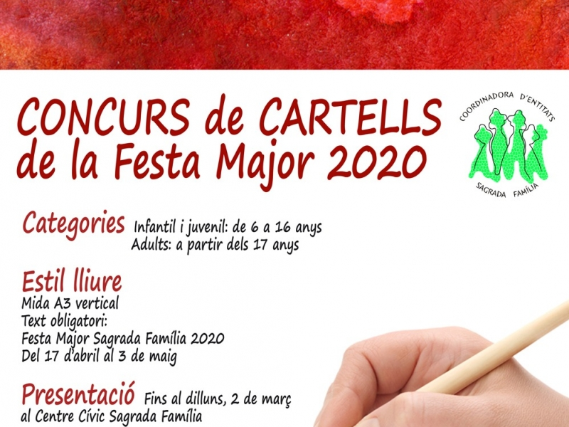 Concurs de Cartells de la Festa Major 2020 Sagrada Familia